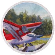 Puddle Jumper Round Beach Towel