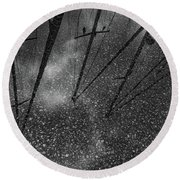Puddle Of Dreams Round Beach Towel