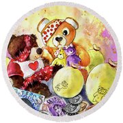 Pudsey And Truffle Mcfurry For Children In Need Round Beach Towel