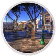 Puebla Mexico Round Beach Towel