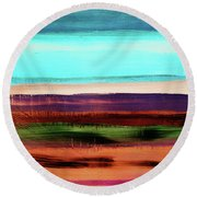 Pueblo 2- Art By Linda Woods Round Beach Towel