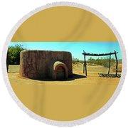 Pueblo Museum 4 Round Beach Towel