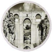 Puente Nuevo Tajo De Ronda Andalucia Spain Europe Round Beach Towel