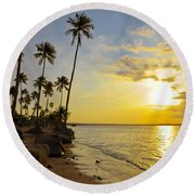 Puerto Rico Sunset Round Beach Towel