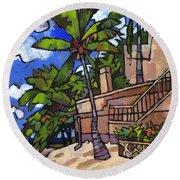 Puerto Vallarta Landscape Round Beach Towel