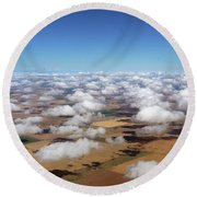 Puffy Clouds  3772 Round Beach Towel