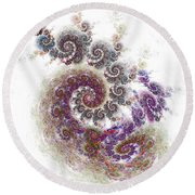 Puffy Spirals Round Beach Towel