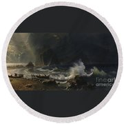 Puget  Sound  On  The  Pacific  Coast, Round Beach Towel