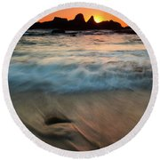 Pulled By The Tides Round Beach Towel