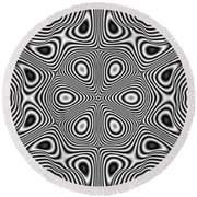 Pulsar Round Beach Towel
