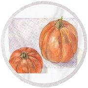 Pumpkin Round Beach Towel