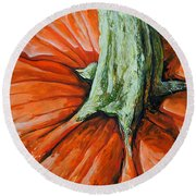 Pumpkin3 Round Beach Towel