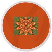 Pumpkins Galore Round Beach Towel
