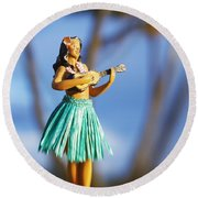 Punaluu, Hula Doll Round Beach Towel