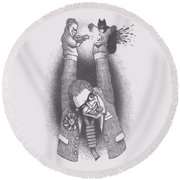 Punch And Judy Round Beach Towel
