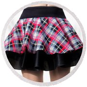 Punk Style Mini Skirt - Ameynra Fashion Round Beach Towel