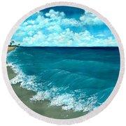 Punta Cana Beach Round Beach Towel