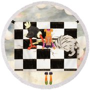 Puppet Doggy In Trouble Again Round Beach Towel