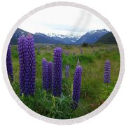 Pure And Simple Nature Of New Zealand Round Beach Towel