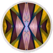 Pure Gold Lincoln Park Wood Pavilion N89 V1 Round Beach Towel