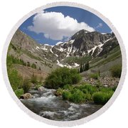 Pure Mountain Beauty Round Beach Towel