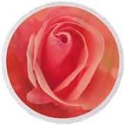 Pure Passion Rose Round Beach Towel