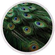 Pure Peacock Round Beach Towel