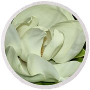 Pure White Fragrant Beauty Round Beach Towel