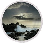Purely Celestial Round Beach Towel