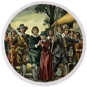 Puritans Round Beach Towel