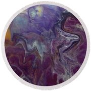 Purple Abyss Round Beach Towel