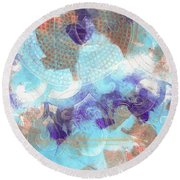 Purple And Blue In The Round Round Beach Towel