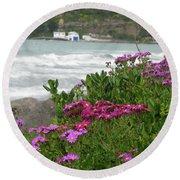 Purple And Pretty Round Beach Towel