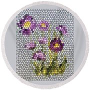 Purple Asters II  Round Beach Towel