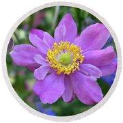 Purple Blossom 1 Round Beach Towel