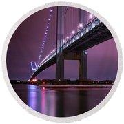 Purple Bridge Round Beach Towel