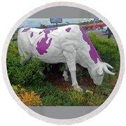 Purple Cow 4 Round Beach Towel