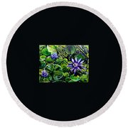 Purple Dawn Round Beach Towel