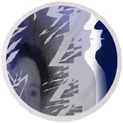 Purple Dream Round Beach Towel