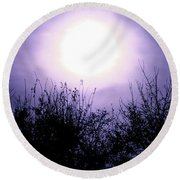 Purple Eclipse Round Beach Towel