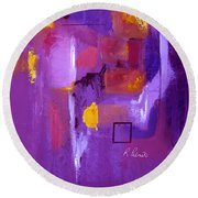 Purple Enclosure Round Beach Towel
