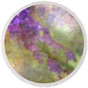 Purple Flowers 8621 Idp_2 Round Beach Towel