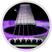 Purple Guitar 15 Round Beach Towel