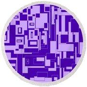 Purple Hues Round Beach Towel