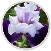 Purple Iris Flower Art Prints Garden Floral Baslee Troutman Round Beach Towel