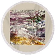 Purple Land Round Beach Towel
