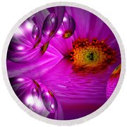 Purple Magic Round Beach Towel