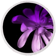 Purple Magnolia 2 Round Beach Towel
