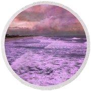 Purple Majesty  Round Beach Towel by Betsy Knapp
