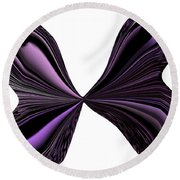 Purple Monarch Butterfly Abstract Round Beach Towel